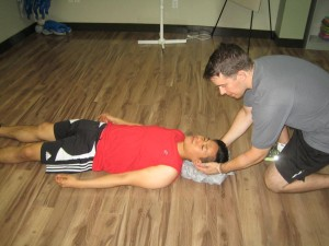Assisting a fallen individual